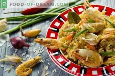 Pilaf con pollo e gamberetti