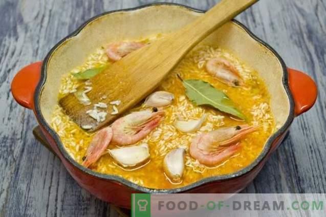 Pilaf con pollo y camarones