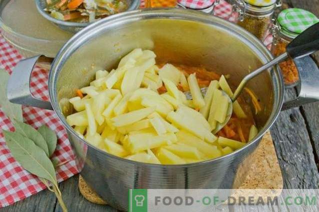 Sopa de tomate con papas