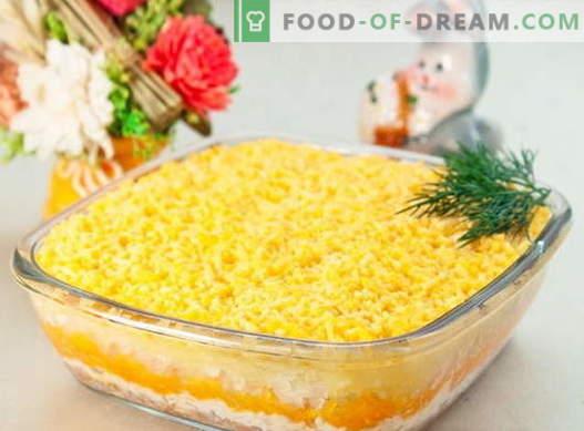 Ensalada Mimosa - Las mejores recetas. Cómo preparar correctamente y sabrosa ensalada de mimosa.
