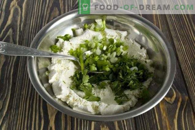 Salade avec lait caillé, épinards et coriandre
