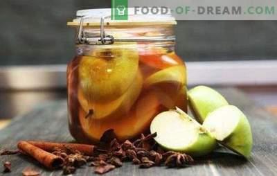 Des pommes marinées pour l'hiver en conserve sans stérilisation - une collation aromatique. Pommes marinées pour l'hiver: douces, acides,