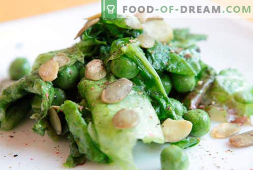 Ensalada con guisantes verdes - recetas probadas. Cómo cocinar una ensalada con guisantes verdes.