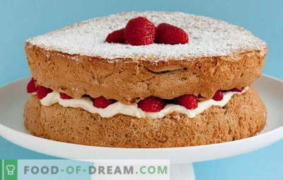 How to cook a lush sponge cake at home? The best recipes for sponge cake at home: sure to succeed!