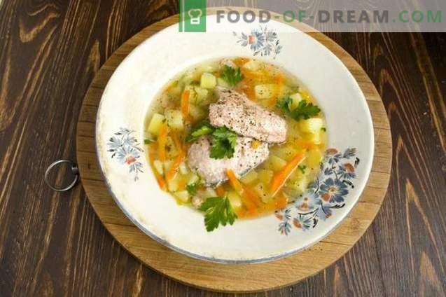 Sopa de salmón de pescado