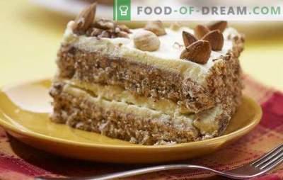 Tarta de almendras: ¡este es el sabor, este es el sabor! Recetas para diferentes pasteles de almendras: de Ikea, con leche condensada, mascarpone, fresas