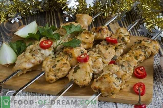 Kebabs De Pollo En El Horno