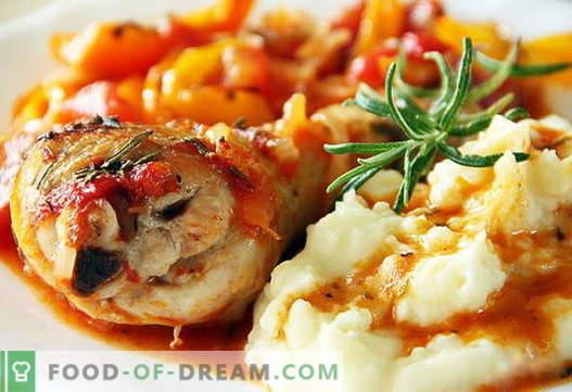 Las patatas con puré de pollo son las mejores recetas. Cómo cocinar correctamente y sabroso el puré de papas con pollo.