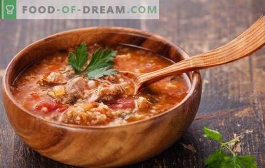 La sopa georgiana es un primer plato deliciosamente picante y picante. Las mejores recetas de sopas georgianas: kharcho, shechamandy, hashi, bozartmu