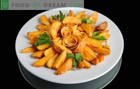 Patatas estilo country en una olla de cocción lenta: con verduras o carne. Cena deliciosa y rápida - Patatas estilo campestre