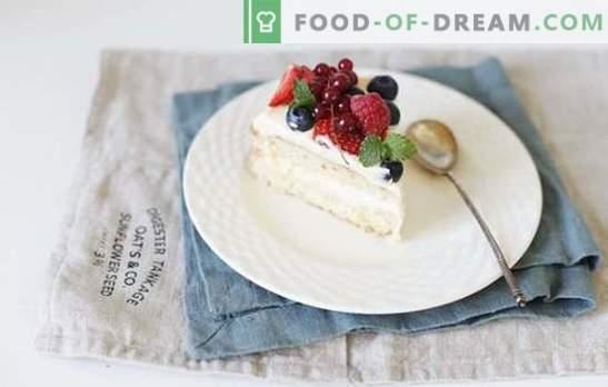 Bizcocho con crema pastelera - arte de pastelería clásico. Las mejores recetas para bizcochos con natillas