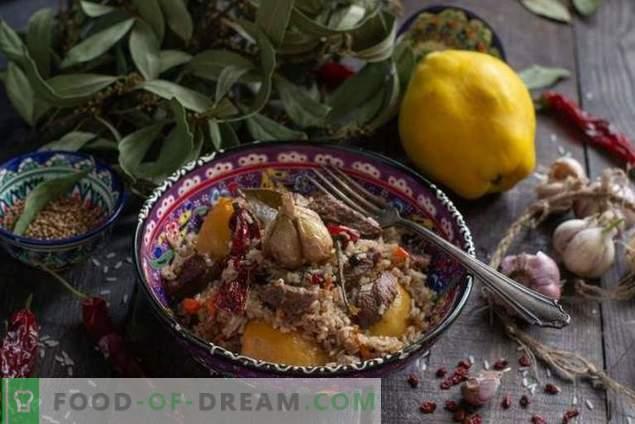 Pilaf aromático con membrillo y ternera