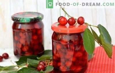 Cherry em seu próprio suco para o inverno - verão rubi no banco. Como preparar uma cereja no seu próprio suco durante o inverno