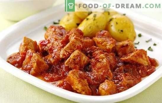 Estofado multicooker es una de las recetas favoritas. Platos de carne de res, cerdo, pollo, conejo: cocine la carne a fuego lento en una olla de cocción lenta