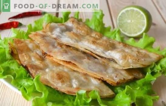 Pasteles perezosos: un plato favorito en pocos minutos. Recetas para pastas perezosas con pan de pita, pastel de waffle, batido