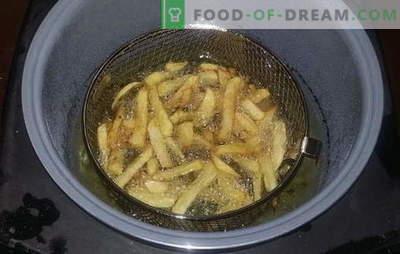Papas fritas en una olla de cocción lenta - una comida rápida favorita en casa. Recetas para papas fritas en una olla de cocción lenta, así como salsas para ella