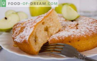 Mannik con manzanas: ¡un pastel de una infancia despreocupada! Recetas de mannica con manzanas: sobre yogur, crema agria, leche, agua, con requesón