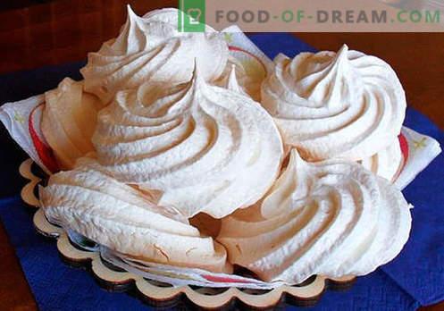 Merengue - las mejores recetas. Cómo cocinar correctamente y sabroso los merengues caseros.