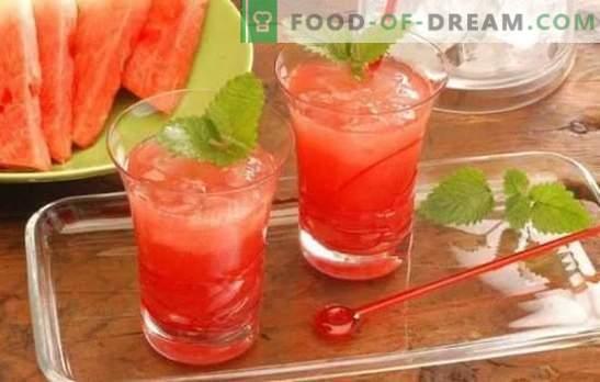 Cócteles de sandía: bebidas refrescantes para fiestas y relajación. Recetas para cócteles de sandía sin alcohol y alcohólicas