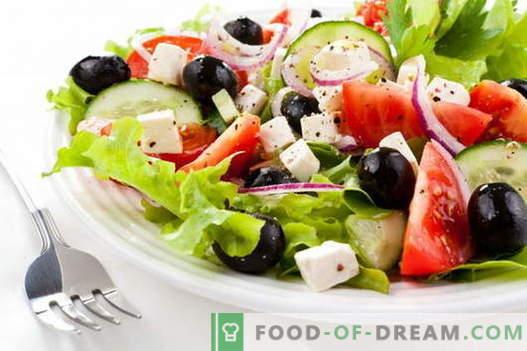 Ensalada griega - las mejores recetas. Cómo cocinar adecuadamente y sabrosa ensalada griega