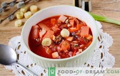 Зелена боречка со доматна паста и цвекло: чекор по чекор авторски рецепт со слика. Како да се готви највкусна супа на киселица и цвекло со доматна паста - споделете ги тајните