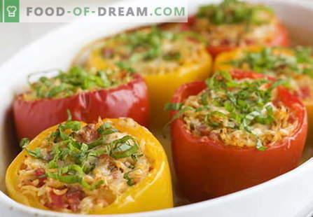 Los pimientos rellenos de carne son las mejores recetas. Cómo cocinar correctamente y pimientos rellenos.