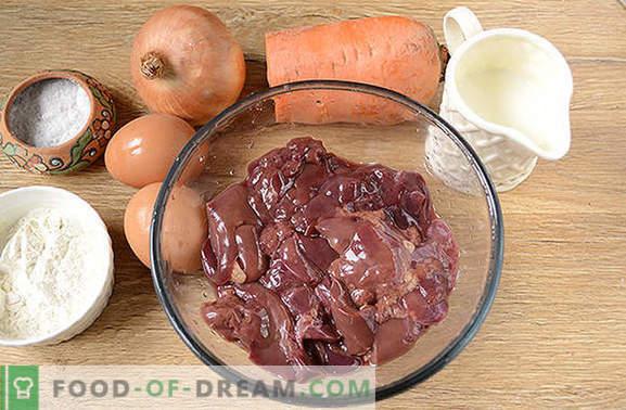 Soufflé de hígado: plato dietético delicado y saludable. Receta fotográfica paso a paso del autor de soufflé de hígado de pollo