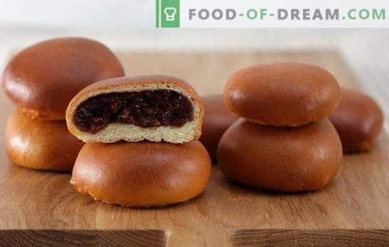 Pastel con mermelada en el horno - cariño! Recetas para pasteles con mermelada en el horno de hojaldre, levadura, masa de kéfir