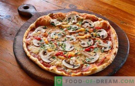 Pizza con carne picada y champiñones: recetas tradicionales y originales. Pizza casera con carne picada y champiñones - las mejores opciones