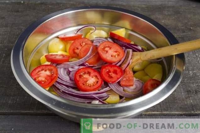Ensalada Physalis con tomate y espinaca