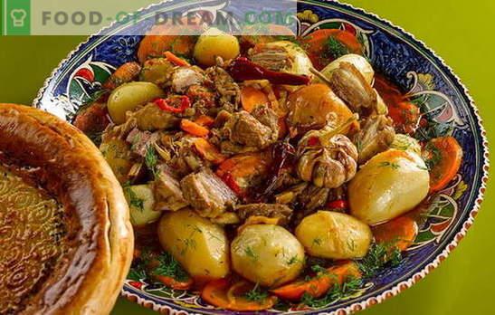 Patatas con carne en un caldero: un nuevo sabor de los platos ...