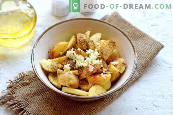 Nouvelles pommes de terre au four, une recette à la mode villageoise