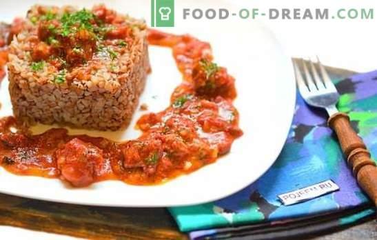 Alforfón con estofado en una olla de cocción lenta - ¡almuerzo y cena sin cocer al vapor! Formas sencillas y las mejores recetas de alforfón con estofado en una olla de cocción lenta