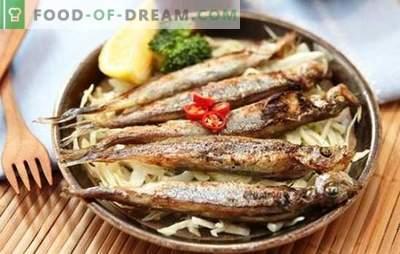 Capelán en el horno: ¡el pescado