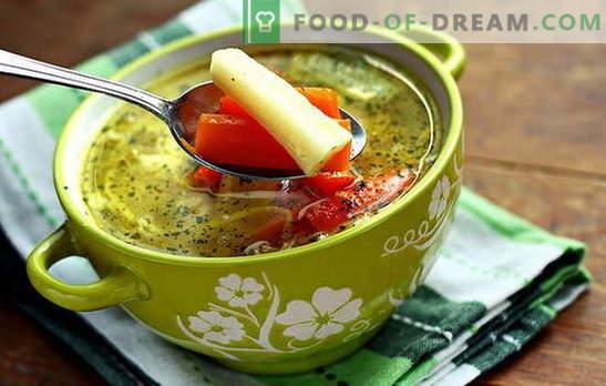 Sopa magra de verduras - para vegetarianos y en ayunas. Recetas de cocina de sopa magra de verduras