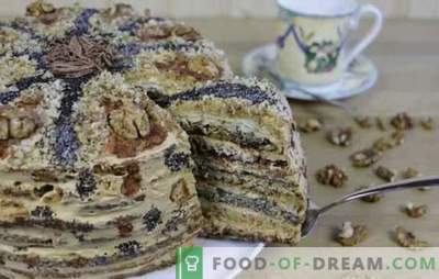 Pastel de Caprice para damas: ¡disfrutemos de los dulces! Recetas para miel, amapola, nuez, tortas de chocolate