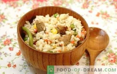 Arroz con carne en una olla de cocción lenta: de pilaf a paella. Recetas de platos populares de arroz con carne en una olla de cocción lenta: simple y original