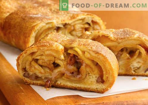 Puff strudel - las mejores recetas. Cómo cocinar adecuadamente y sabroso el pastel de hojaldre.
