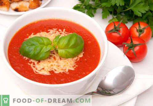 Sopa de crema de tomate - recetas probadas. Cómo cocinar adecuadamente y deliciosamente la sopa de puré de tomate.