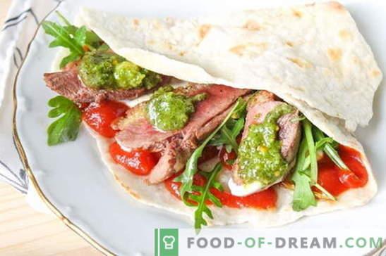 Pita con rellenos - una receta de una foto. Pase por la calle shawarma! Descripción paso a paso de la preparación de pan de pita con rellenos (foto)