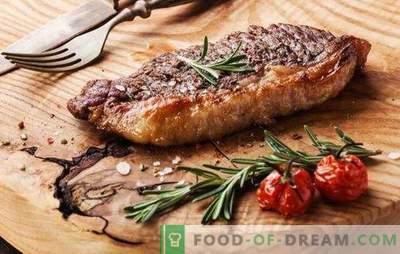 Goveji zrezek v pečici - za prave ljubitelje mesa. Kako kuhati okusno in sočno govejega zrezka v pečici