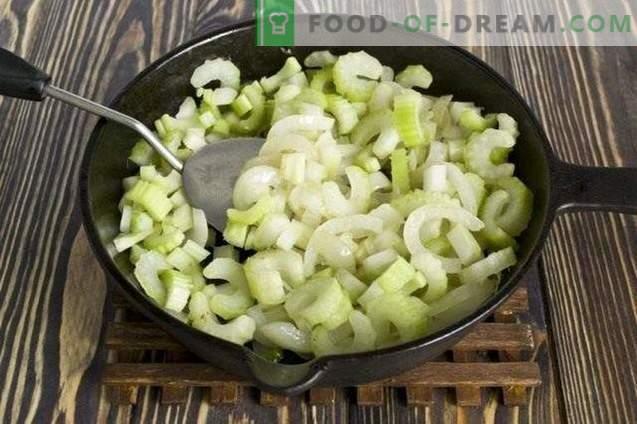 Groene soep voor de winter - soepdressing met spinazie en selderij