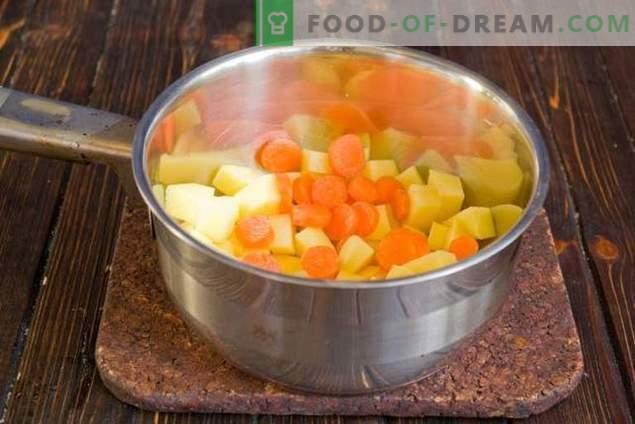 Sopa de leche con verduras - ¡inusual, pero muy sabrosa!
