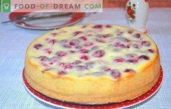 Cómo hacer un delicioso pastel de cereza con kéfir - secretos. Una selección de recetas para diferentes pasteles con cereza en yogurt