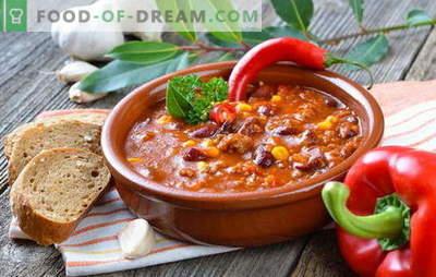 Мексиканска супа - вечерата ќе биде оригинална! Рецепти од различни мексикански супи: со пченка, грав, мелено месо, пилешко, ориз