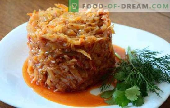 La col con carne picada guisada en una sartén es un plato jugoso. Cómo cocinar repollo con estofado picado en una sartén