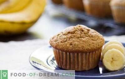 Muffins con plátano - una delicadeza delicada. Secretos y recetas de deliciosos muffins de plátano: chocolate, requesón, nuez