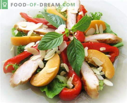 Ensalada con pollo y pimiento - las mejores recetas. Cómo preparar adecuadamente una ensalada con pollo y pimiento.