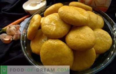 Maíz Khinkali - pequeños soles en la mesa! Recetas de diferentes khinkali de maíz: con carne, queso, calabaza, ortiga, cuajada