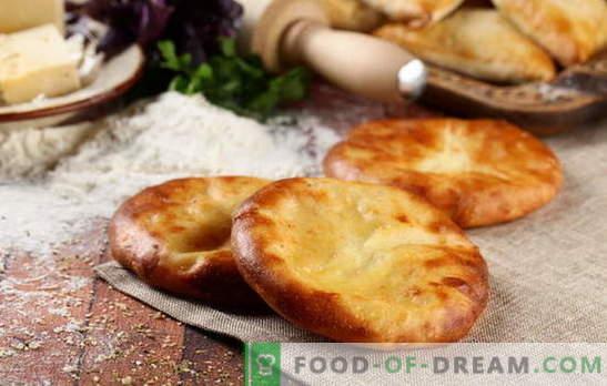 Khachapuri en kéfir en el horno y en la sartén. Cómo cocinar khachapuri con queso en kéfir: opciones para aderezos
